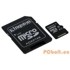 Kingston 128GB Micro SDXC CL10 UHS-I adapterrel memóriakártya