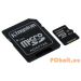 Kingston 64GB Micro SDXC CL10 UHS-I adapterrel