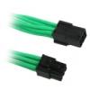 Bitfénix BitFenix 6-Pin PCIe hosszabbító 45cm - Zöld / Fekete