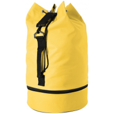 CENTRIX 600D tengerészzsák, cipőtartóval, sárga (Húzózsinórral zárható tengerész hátizsák oldalsó füllel és)