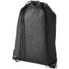 CENTRIX Evergreen nemszőtt hátizsák-tornazsák, fekete (Evergreen nemszőtt hátizsák-tornazsák, húzózsinórral)