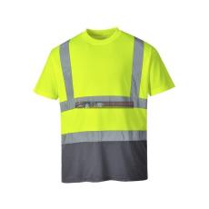 S378 - Kéttónusú pólóing - Sárga