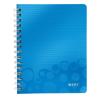 Leitz Spirálfüzet -46390036- wow A5 vonalas Kék LEITZ