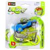 BBurago - Go Gears hátrahúzós kisautók - kék versenyautó