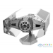 Fascinations Metal Earth Star Wars: 3D Fém Modell - Darth Vader Tie Advanced X1 Űrrepülője (Fascinations, 502664)