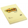 3M-POST-IT Self-adhesive Pad POST-IT® square ruled (662)  102x152mm  1x100 sheets  yellow 3134375014267
