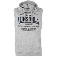 Lonsdale Box Sleeveless férfi kapucnis pulóver, felső