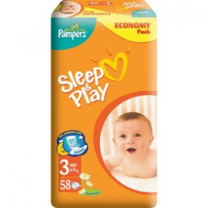 Pampers Sleep&Play 3 Value Pack pelenka, 58 db (4015400224211)