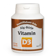 Alg-börje D3-vitamin tabletta - 150db vitamin