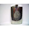 Óncímkés fém flaska, lapos üveg Évszámos 18, 30, 40 (18-as)