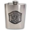 Óncímkés fém flaska, lapos üveg Évszámos 20, 50, 60 (50-es)
