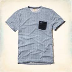 Hollister póló- designer, zsebes