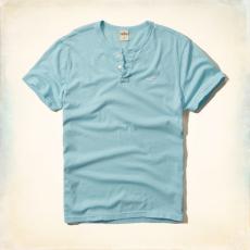 Hollister póló- v nyakú, kék
