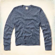 Hollister V nyakú pulóver- kék