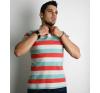 S méret Férfi galléros póló- három csíkos férfi póló