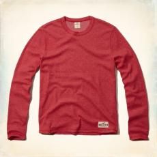 Hollister pulóver- környakú, piros