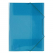 BIURFOL Project file: A4 with a band fastener – wide transparent blue tek0200019