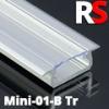 Alumínium RS profil eloxált (MINI-01-B) LED szalaghoz, átlátszó