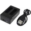 Powery USB-Akkutöltő 2db akkuhoz GoPro Hero4