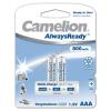 Camelion akku típus HR03 Micro AAA AlwaysReady 2db/csom. 800mAh