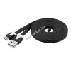 Powery Goobay USB kábel 2.0 – micro USB csatlakozóval 2m fekete mobiltelefon kellék