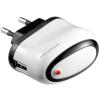 Powery Goobay USB hálózati töltő 220V USB fehér (2A)
