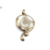 Swarovski köves ezüst medál