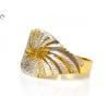 Vésett bicolor női arany gyűrű
