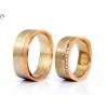 Köves női bicolor arany karikagyűrű