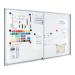 Premium beltéri fali vitrin és whiteboard egyben (tolóajtóval) 95,0x194,9 cm