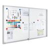 Premium beltéri fali vitrin és whiteboard egyben (tolóajtóval) 69,0x95,0 cm