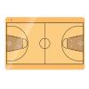 Kosárlabda taktikai tábla (több méretben)