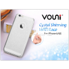 Vouni Apple iPhone 6/6S szilikon hátlap - Vouni Crystal Shinning with lace - crystal clear