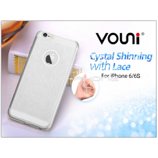 Vouni Apple iPhone 6/6S szilikon hátlap - Vouni Crystal Shinning with lace - crystal clear tok és táska