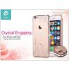 Devia Apple iPhone 6/6S hátlap Swarovski kristály díszitéssel - Devia Crystal Engaging - champagne gold