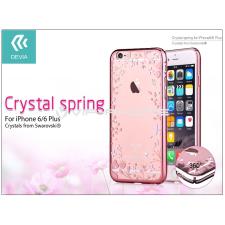Devia Apple iPhone 6/6S hátlap Swarovski kristály díszitéssel - Devia Crystal Spring - rose gold tok és táska