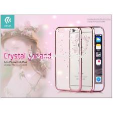Devia Apple iPhone 6/6S hátlap Swarovski kristály díszitéssel - Devia Crystal Garland - rose gold tok és táska