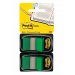 3M-POST-IT Filing Index Tabs POST-IT® (680-G2EU) PP 25x43mm 2x50 tabs green 051141920573