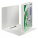 Leitz Presentation binder: Leitz Panorama standard A4+ 4DR/50 spine: 77 mm white 4002432367177
