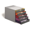 DURABLE VARICOLOR five coloured drawer box. Dimensions: 280x292x356 mm (HxWxD) 4005546701608