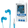 LogiLink Stereo In-Ear Headset, Blue