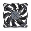 Zalman COOLER Zalman 120mm High-end CASE FAN ZM-DF12 Dual blade, 3 Phase RPM, C button Fekete - Kék LED