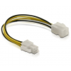 DELOCK Cable P4 male -> P4 female 15cm (82428)