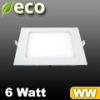 ECO LED panel (négyzet alakú) 6 Watt - meleg fehér