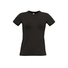 B&C B&C r. ujjú Női pamut póló, fekete