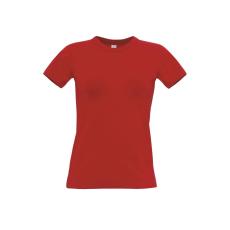 B&C B&C r. ujjú Női pamut póló, red