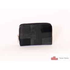 P028 fekete női pénztárca