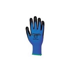Portwest A320 Nylon nitrilhab tenyérmártott kesztyű (kék/fekete)