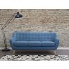 Beliani Kék szövet kanapé – MOTALA