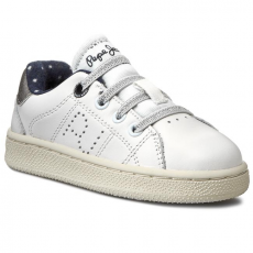 Félcipő PEPE JEANS - Lane Girl Kids PGS30157 White 800